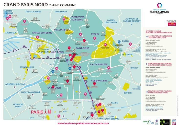 Tourisme Grand Paris Nord - Plan de Plaine Commune