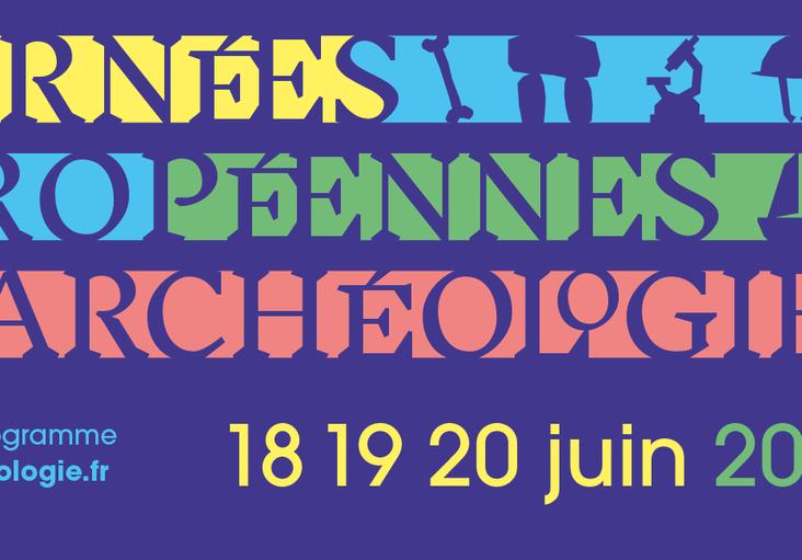 Affiche des Journées nationales de l'archéologie 2021 (c) Inrap