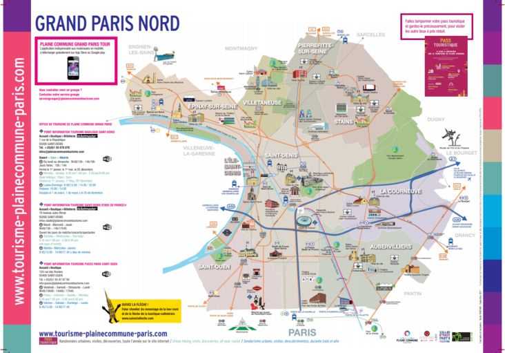 Tourisme Grand Paris Nord - Plan de Plaine Commune