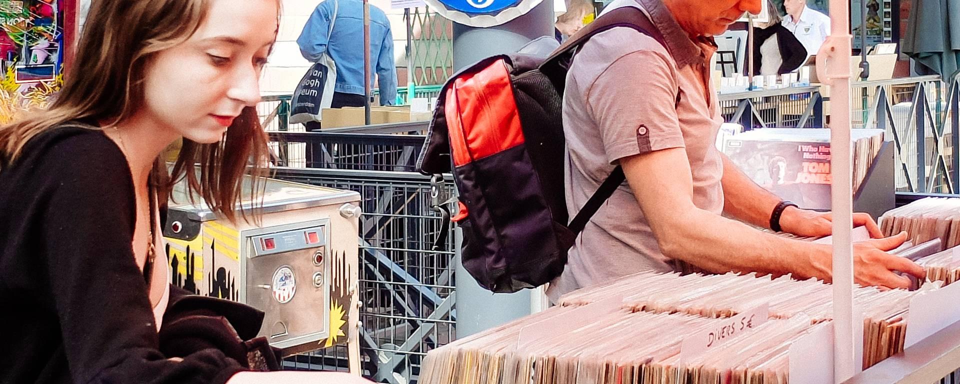 Vinyles au marché aux puces de Saint-Ouen