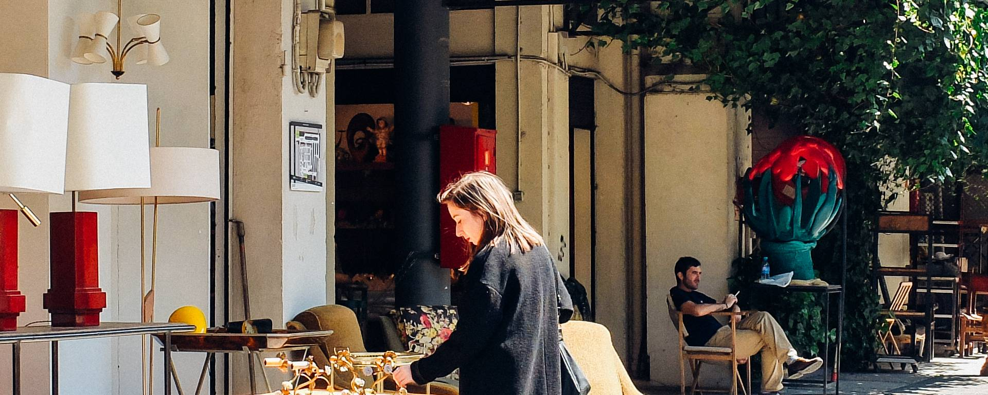 Mobilier vintage au marché aux ouces