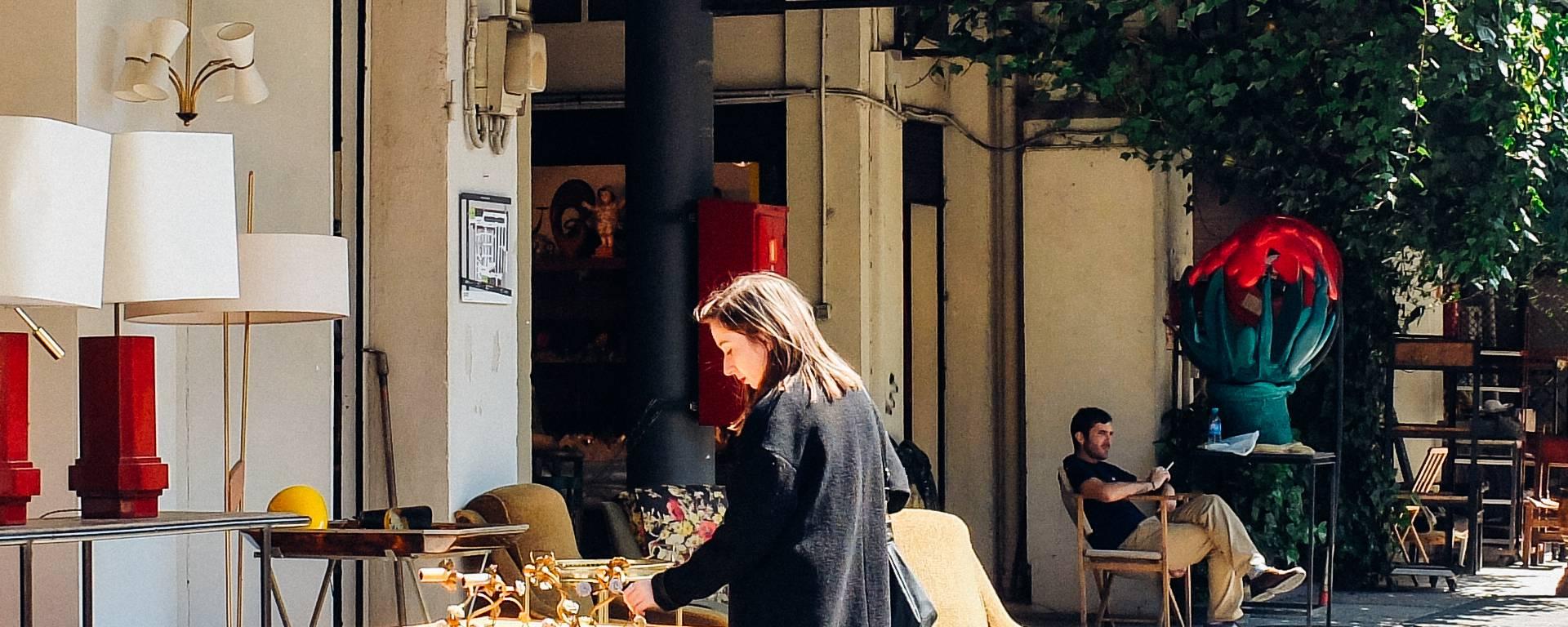Mobilier vintage - marché aux puces