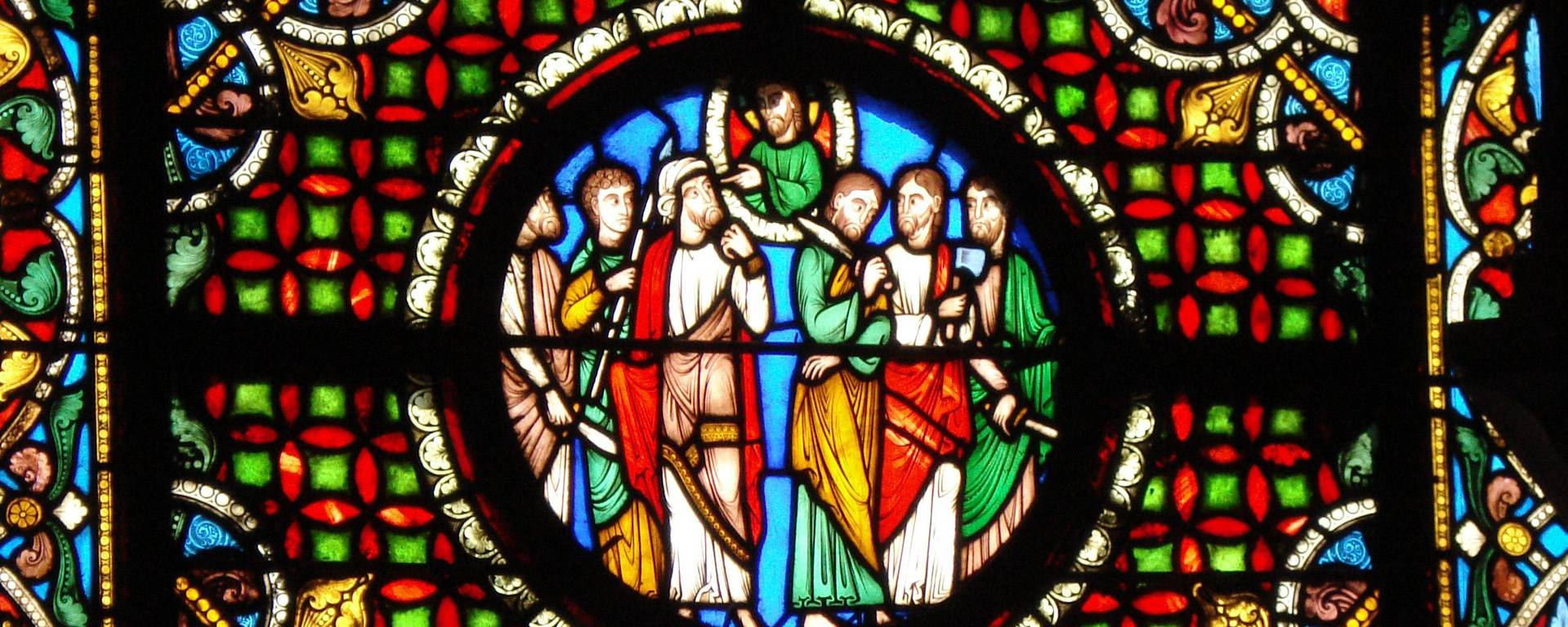 stained glass window of the basilica - © Office de Tourisme de Plaine Commune Grand Paris