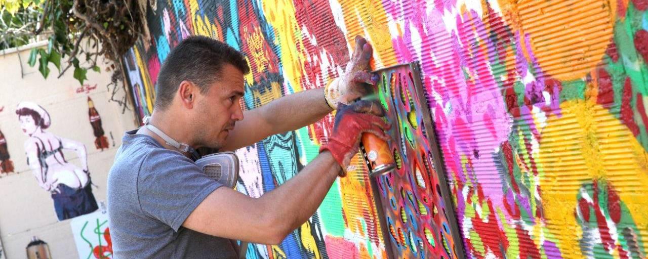 Séance de graff lors de l'Expo Graffart 2015 - © Tarek Ben Yakhlef