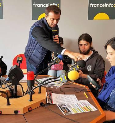 Atelier Radio avec France et l'œil à l'écoute
