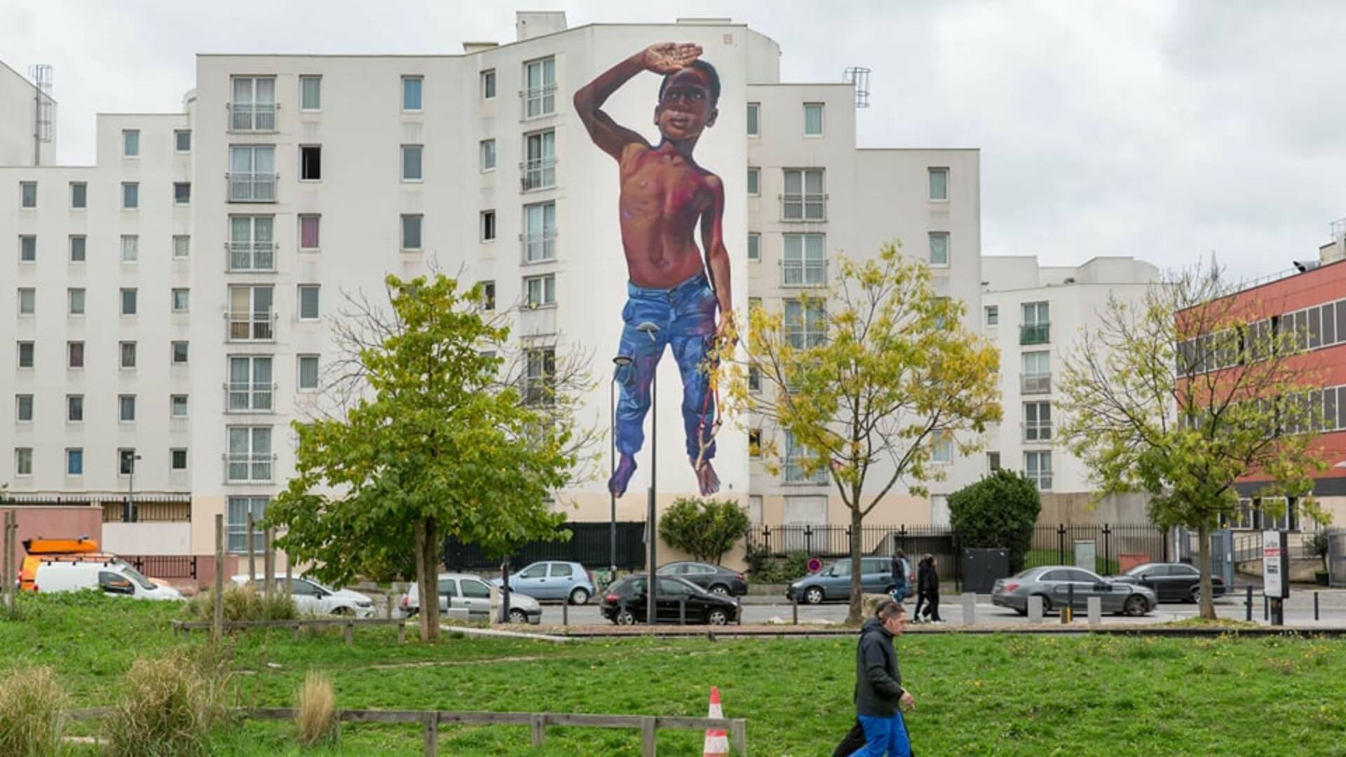 Oeuvre de Case Maclaim pour la saison 4 de la Street Art Avenue - crédit Pierre Le Tulzo