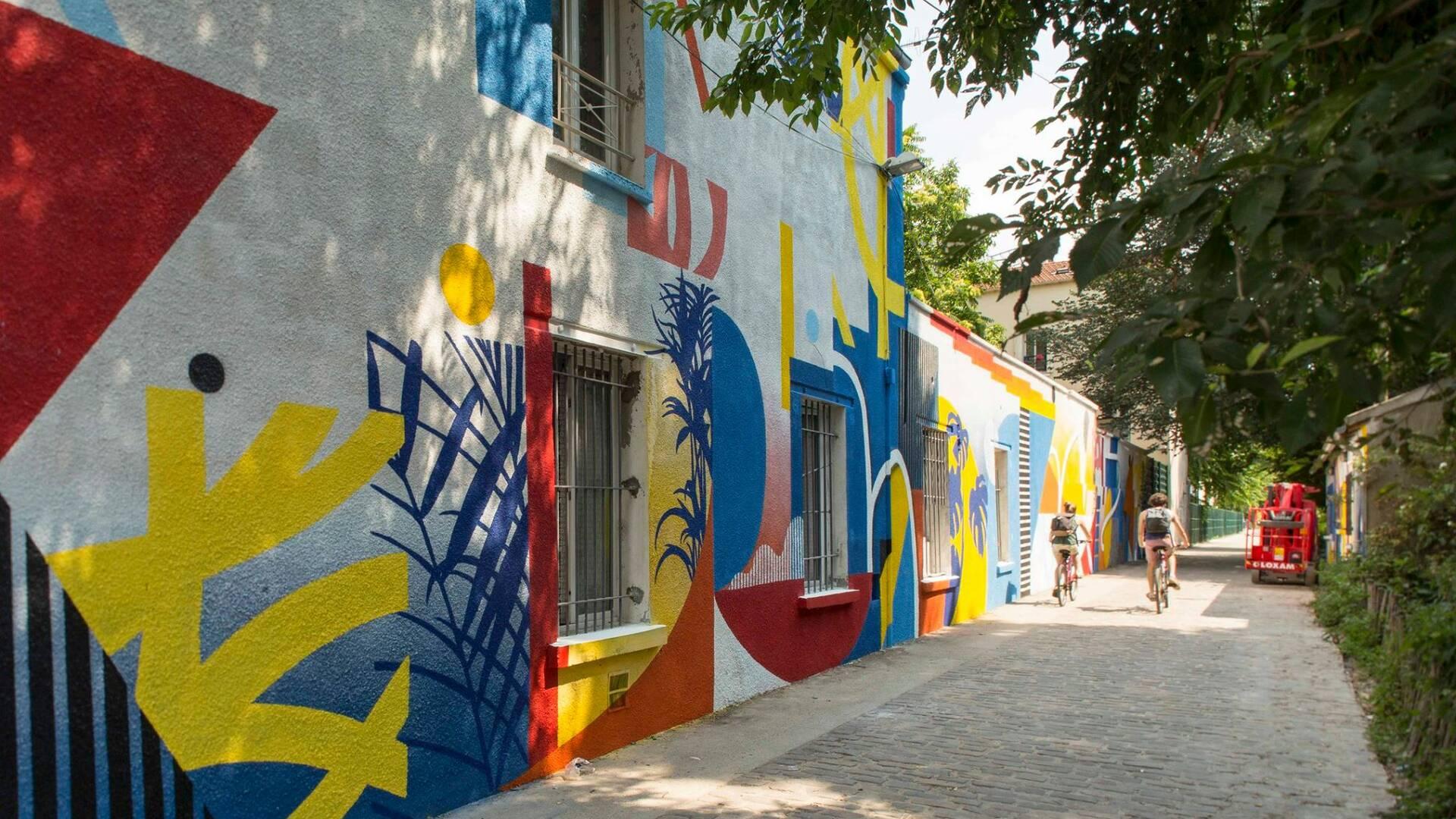 Oeuvre de Polar pour la saison 3 de la Street Art Avenue - crédit Pierre Le Tulzo