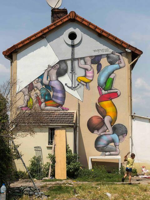 Oeuvre de Seth pour la saison 3 de la Street Art Avenue © Pierre Le Tulzo