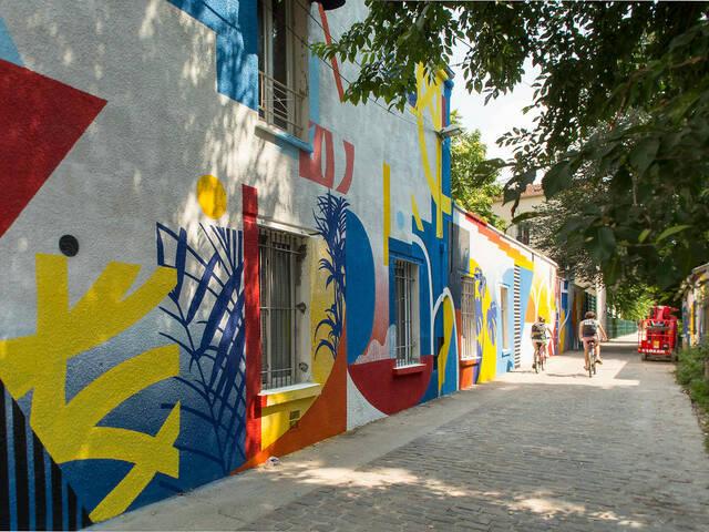 Oeuvre de Polar pour la saison 3 de la Street Art Avenue © Pierre Le Tulzo