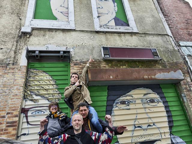 Sandy, Gaspard, Kamel et Marie-Aimée par l'artiste Antoine Desailly - crédit Bruno Levy pour In SSD