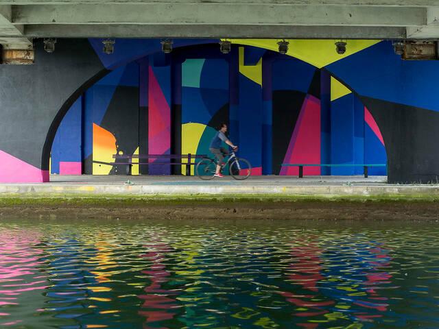 Oeuvre de Zest pour la saison 3 de la Street Art Avenue © Pierre Le Tulzo