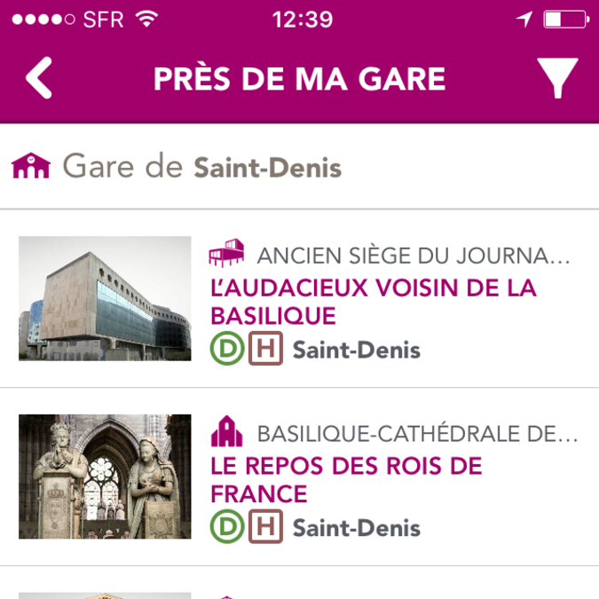 un aperçu de l'application à Plaine Commune