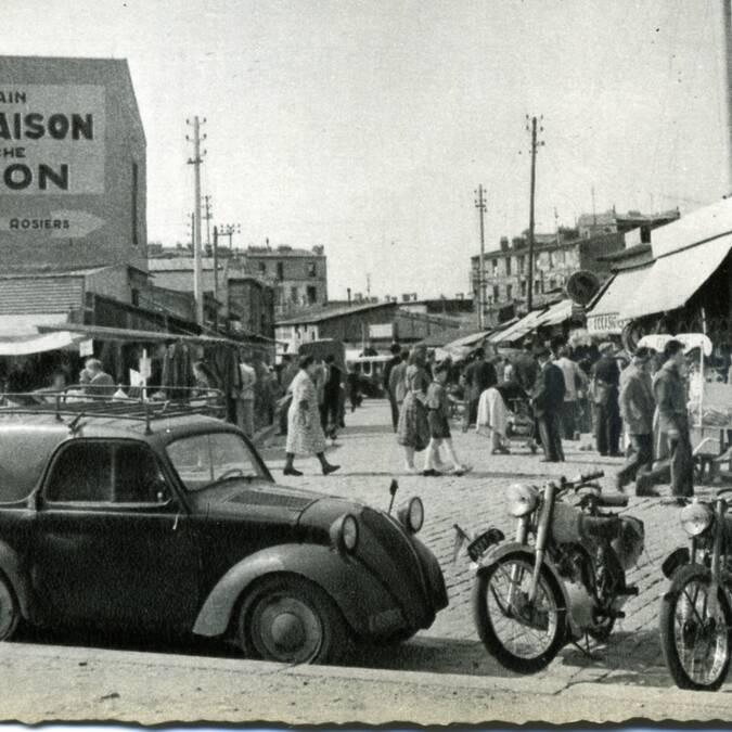Vue du marché Biron pendant l'entre-deux-guerres - © Archives municipales de Saint-Ouen