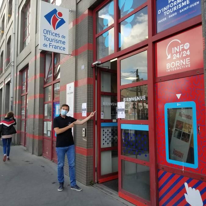 Le point d'information tourisme Puces Paris Saint-Ouen- office de tourisme Plaine Commune Grand Paris
